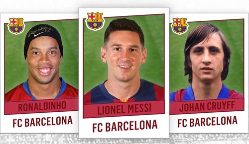 Lịch sử Barca gắn liền với những ngôi sao hàng đầu của bóng đá đẹp.