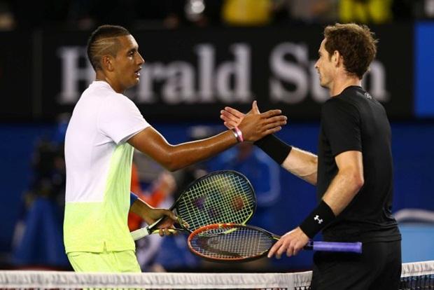 Kyrgios bất ngờ khi giành chiến thắng trước đối thủ kỵ giơ Andy Murray. Ảnh: Internet.