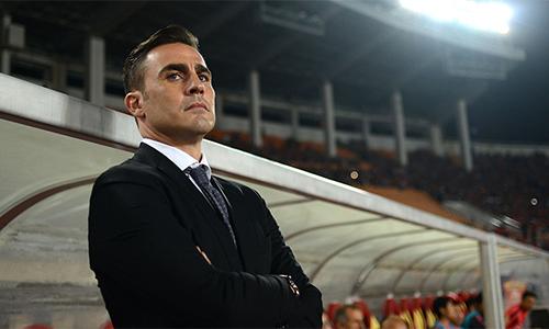 Sự nghiệp cầm quân của Cannavaro không suôn sẻ như thời anh còn thi đấu. Ảnh: AP.